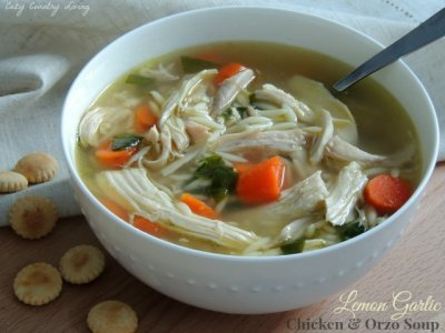 Lemon Chicken Orzo Soup, Cup