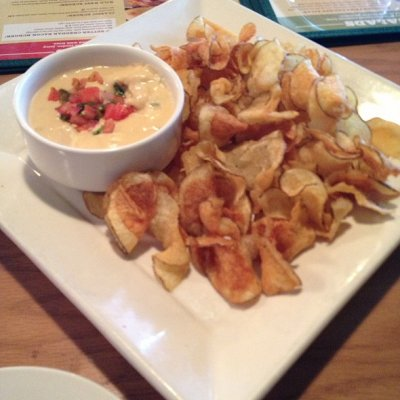 Twisted Chips & Spicy White Queso