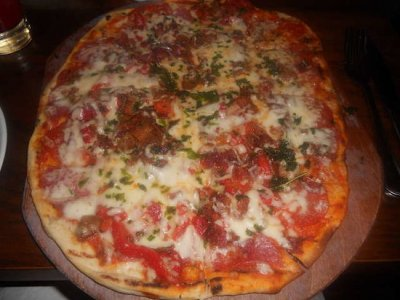 Meaty Max Pizza, Individual, New York Crust, 1 Slice