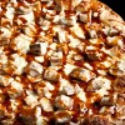 Pizza, cheese topping, rising crust, frozen, cooked