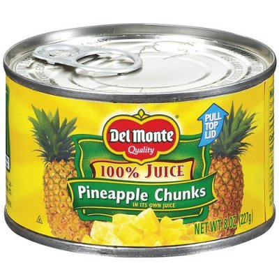 Pinapple, Crushed, (in its own juice), Canned