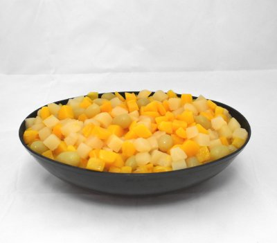 Variety Pack, Diced Peaches, Mixed Fruit, Cans, in Extra Light Syrup