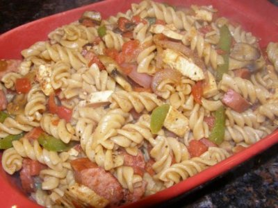 Cajun Pasta w/ Grilled Shrimp