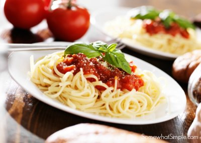 Kids Create Your Own Pasta  with Tomato Sauce