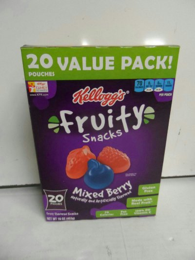 Mixed Berry Squeezable Fruit Snacks
