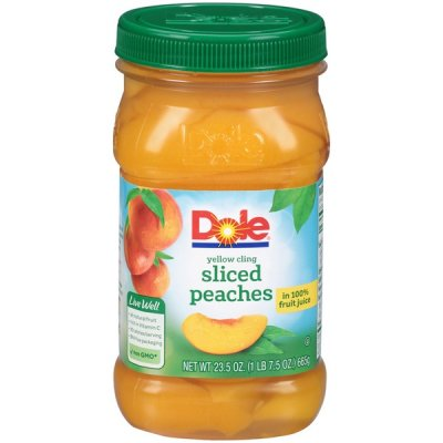Peaches, Yellow Cling, Sliced, in 100% Fruit Juices