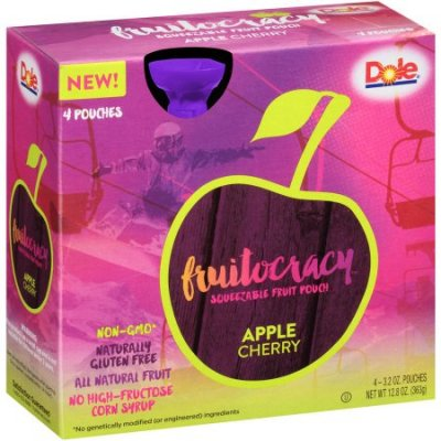 Squeezable Fruit Pouch, Apple Cherry