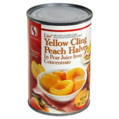 Yellow Cling Peach Halves in Pear Juice from Concentrate