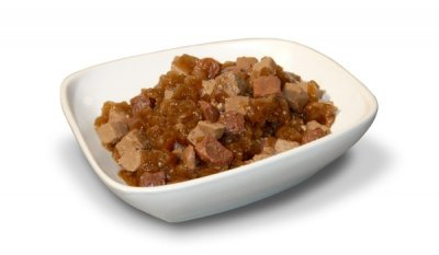 Cat Food, Beef & Egg Entree Chunks In Sauce