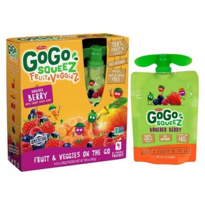 GoGo Squeez Fruit & Veggiez, Great' Full Grape