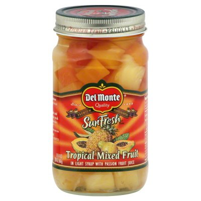Mixed Fruit, Tropical, in Light Syrup and Tropical Fruit Nectar
