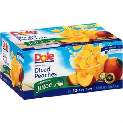 Yellow Cling Diced Peaches, In 100% Fruit Juice