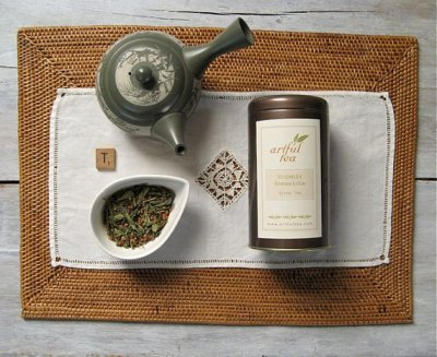 Genmaicha Tea, Organic (green tea & roasted brown rice) - 16 tea bags/box