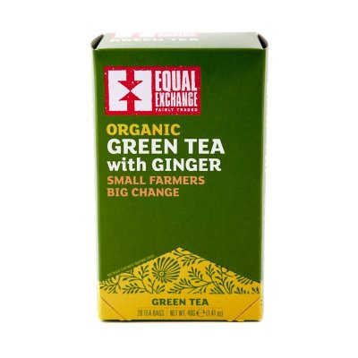 Green Tea, With Ginger, Organic