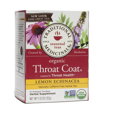 Organic Throat Coat, Supports Throat Health, Seasonal Teas