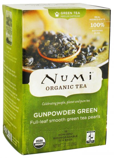 Full Leaf Tea Bags, Medium Caffeine, Gunpowder Green