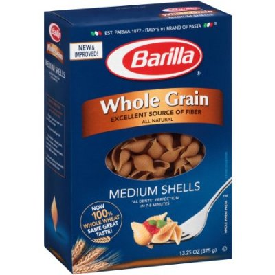 Whole Wheat Whole Grain Medium Shells Pasta