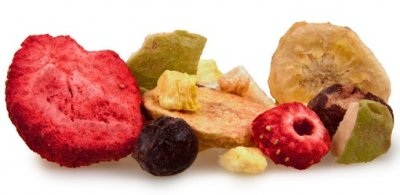 Freeze Dried Fruit Snack, Strawberries, Bananas