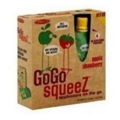 GoGo Squeez, Organic, Apple Strawberry, Applesauce On The Go