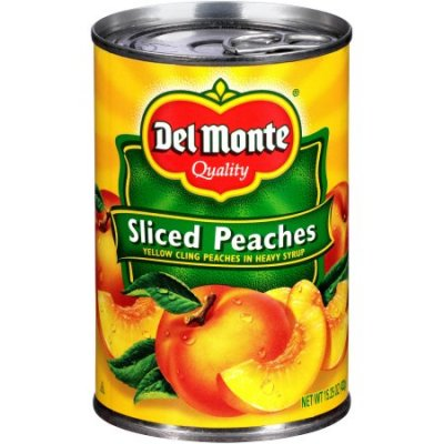 Peaches, Sliced Yellow Cling in Heavy Syrup