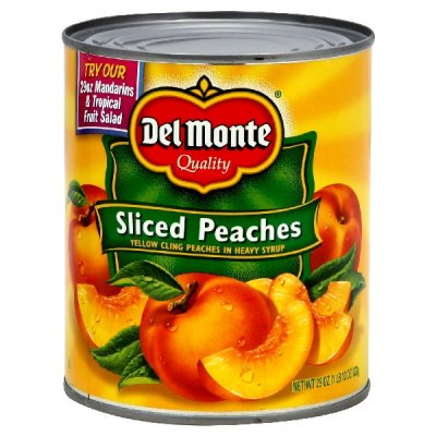 Peaches, Yellow Cling, Sliced