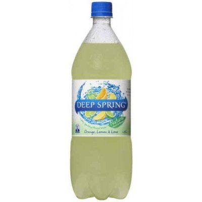 Lime Orange Sparkling Spring Water