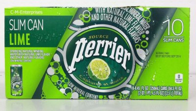 Lime Sparkling Natural Mineral Water
