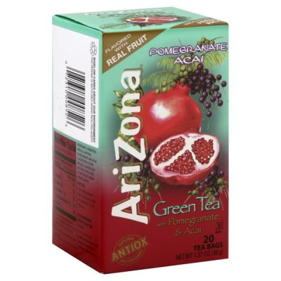 Green Tea, with Pomegranate