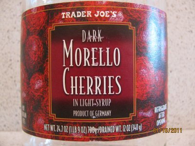 Dark Morello Cherries, Pitted Sour Cherries In Syrup