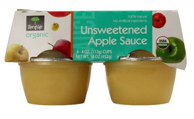 Applesauce,Unsweetened 4 Oz