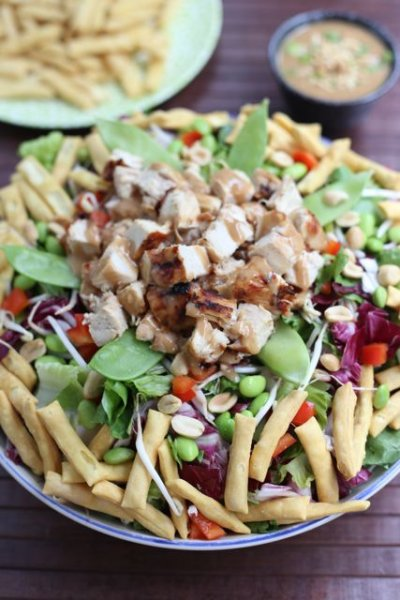 Asian Chopped Chicken Salad Original (no dressing), Gluten free