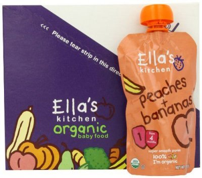 Baby Food, Organic, Peaches + Bananas, 4+ Months