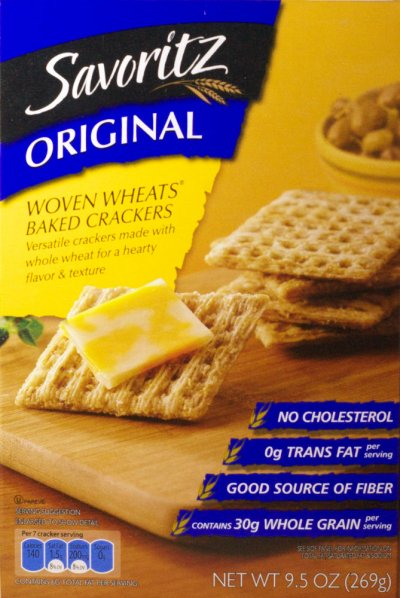 Crackers, Baked, Wheat, Original