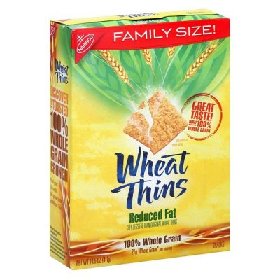 Crackers, Baked, Wheat, Reduced Fat, Family Size