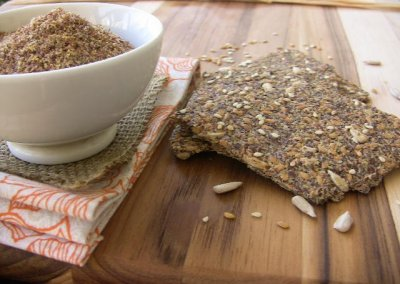 Golden Flax Crackers, Onion Garlic