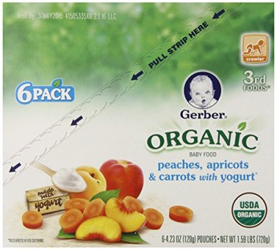 Organic Baby Food, Peaches, Apricots & Carrots With Yogurt