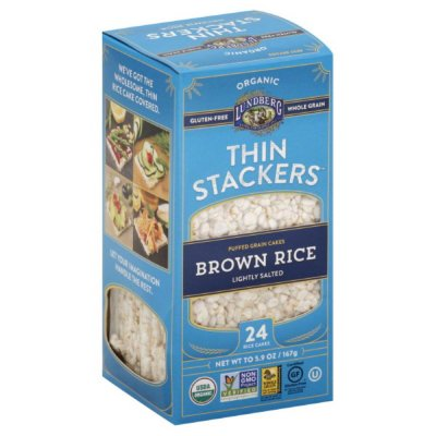 Thin Stackers, Puffed Grain Cakes, Brown Rice, Lightly Salted