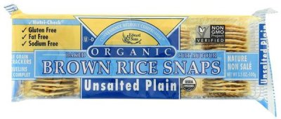 Brown Rice Snaps, Unsalted Plain