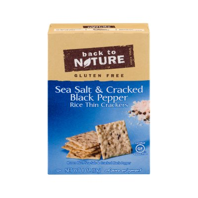 Sea Salt & Cracked Black Pepper Thin Rice Crackers