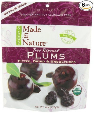 Organic Plums, Pitted, Dried & Unsulfured