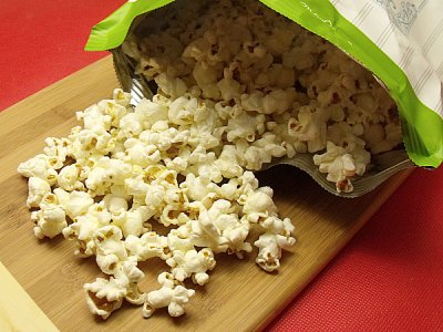 Organic Popped Corn, Extra Virgin Olive Oil