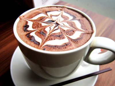 Dark Chocolate Mocha Made With Coffee