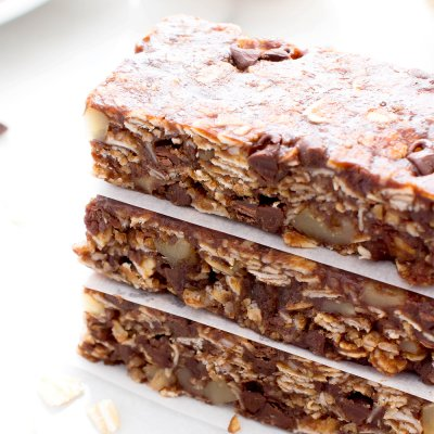 Double Chocolate Chip, Chewy Granola Bars