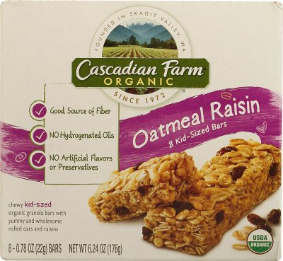 Kid Sized Bar, Oatmeal Raisin, Organic