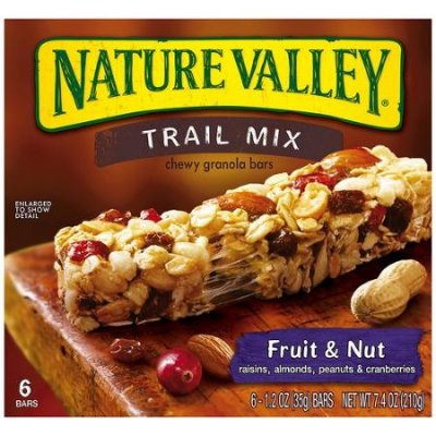 Chewy Trail Mix Bars, Fruit & Nut