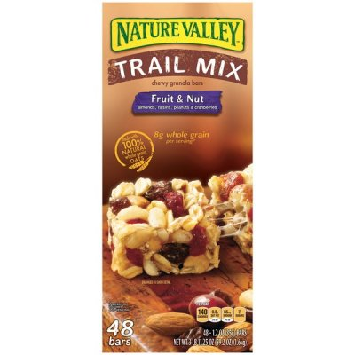 Trail Mix Bars, Chewy, Fruit & Nut
