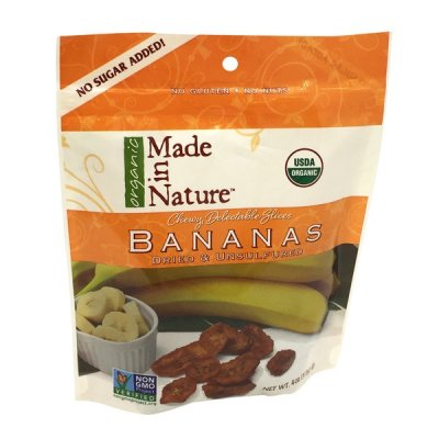 Organic Chewy Delectable Slices, Bananas, Dried & Unsulfured