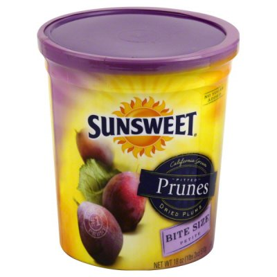 Prunes, Pitted, Bite Size, Dried