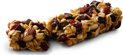Trail Mix, Chewy Granola Bar, Fruit & Nut