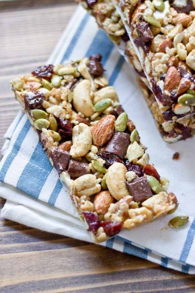 Crunchy Granola Bars, Apple Crisp